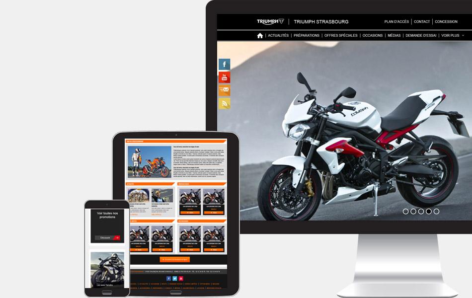 Mockup représentatif site internet de moto