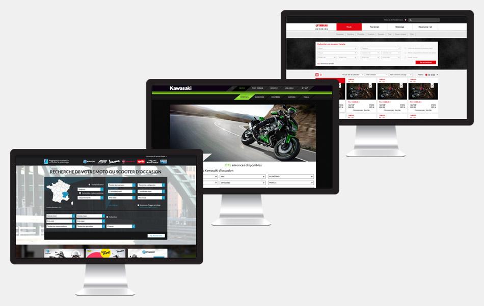 Mockup site internet de moto
